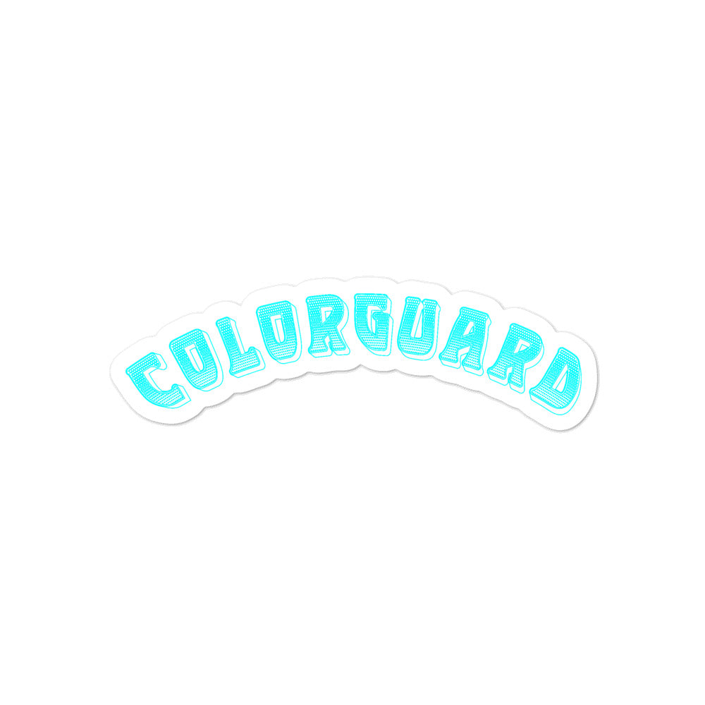 Color Guard Bubble-Free Stickers-Marching Arts Merchandise-4x4-Marching Arts Merchandise