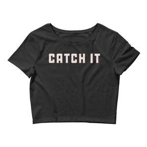 Catch It Color Guard Women's Crop Tee-Marching Arts Merchandise-Black-XS/SM-Marching Arts Merchandise