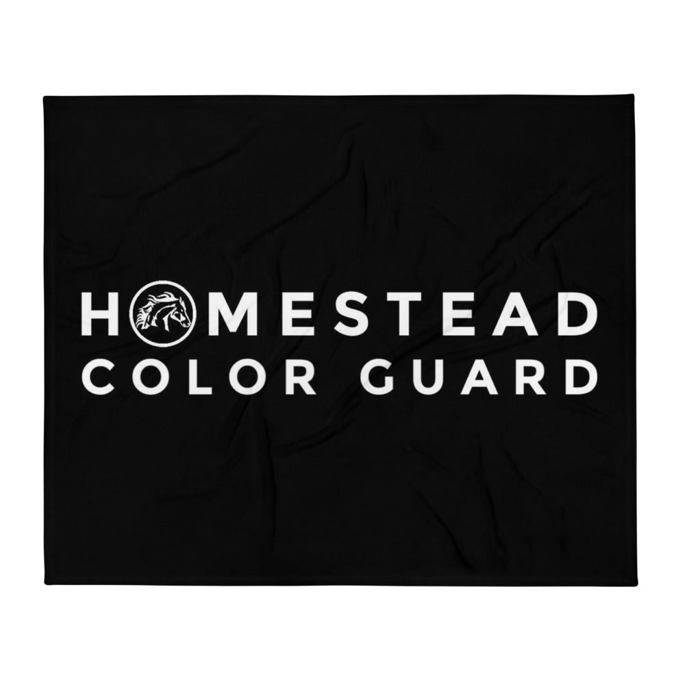 Homestead Color Guard Throw Blanket-Marching Arts Merchandise-Marching Arts Merchandise