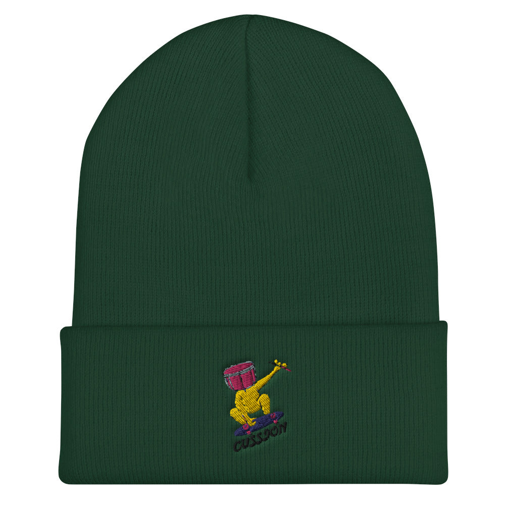 Snare Head Cuffed Beanie-Marching Arts Merchandise-Spruce-Marching Arts Merchandise