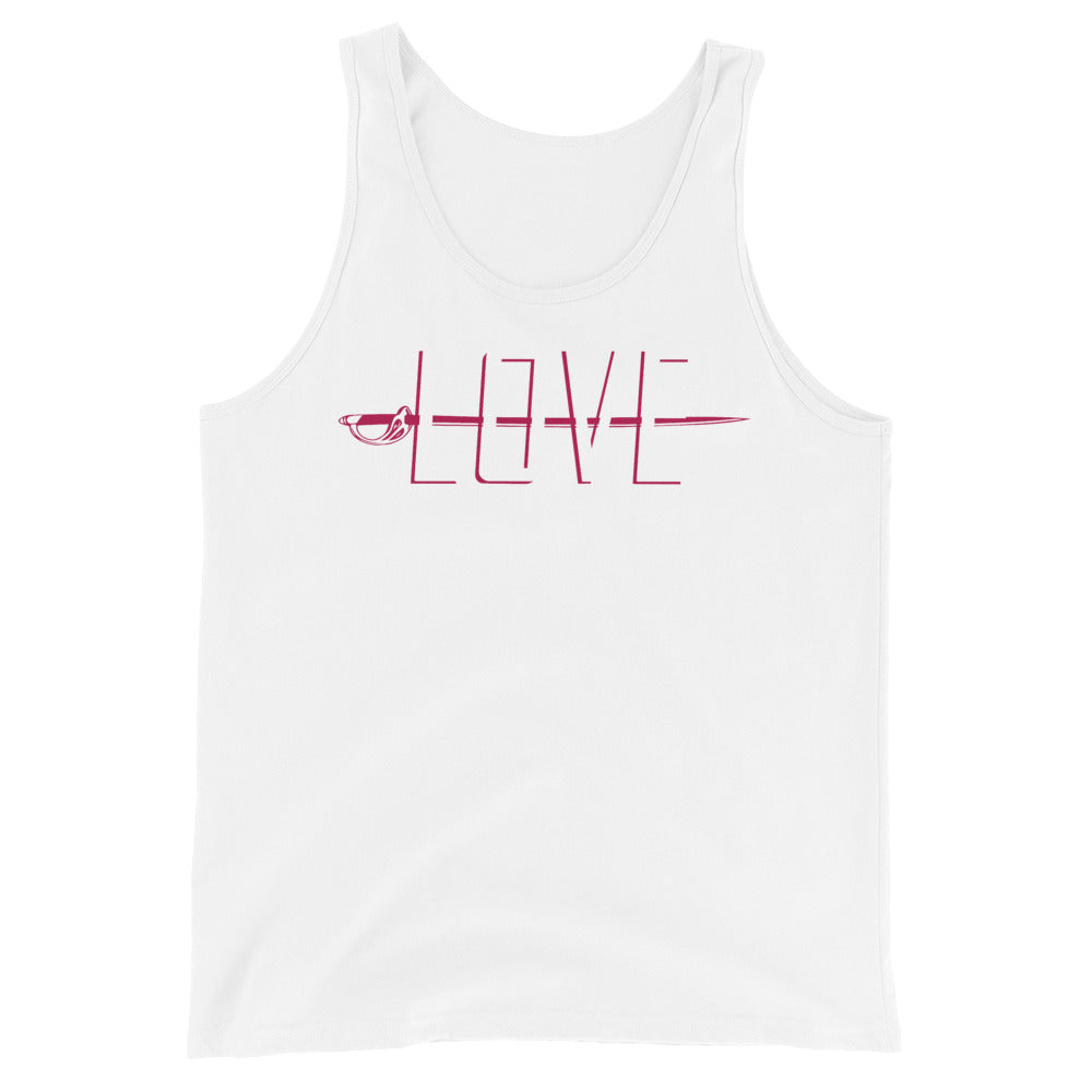 Love Color Guard Unisex Tank Top-Marching Arts Merchandise-White-XS-Marching Arts Merchandise