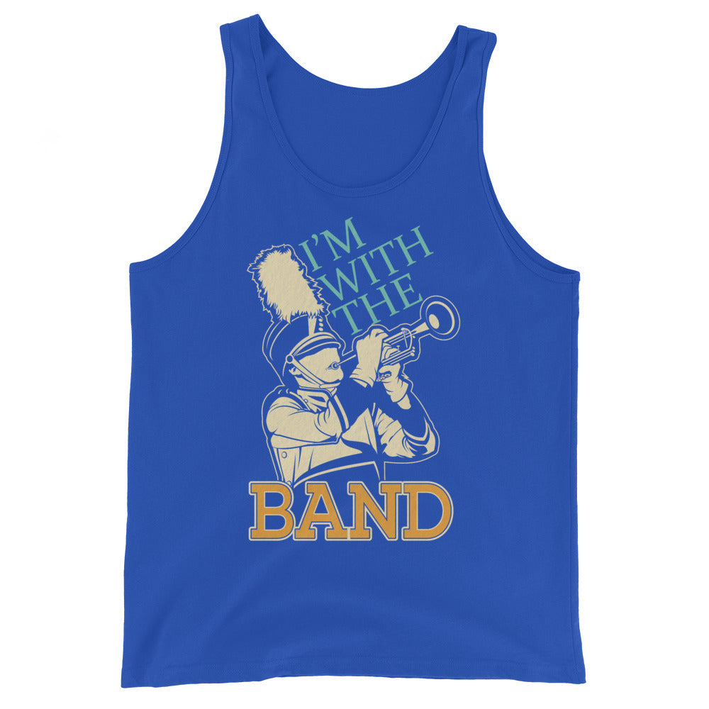 I'm With The Marching Band Unisex Tank Top-Marching Arts Merchandise-True Royal-XS-Marching Arts Merchandise