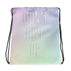 Don't Give Up Drawstring Bag-Marching Arts Merchandise-Marching Arts Merchandise