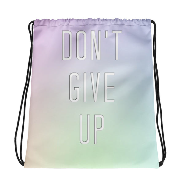Don't Give Up Drawstring Bag - Marching Arts Merchandise -  - Marching Arts Merchandise - Marching Arts Merchandise - band percussion color guard clothing accessories home goods