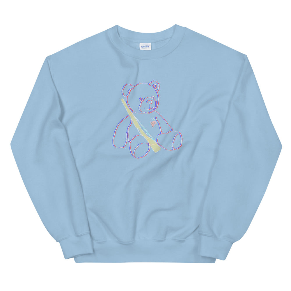 Teddy Rifle Color Guard Unisex Sweatshirt-Marching Arts Merchandise-Light Blue-S-Marching Arts Merchandise