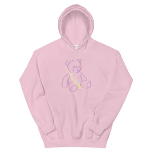 Teddy Rifle Color Guard Unisex Hoodie-Marching Arts Merchandise-Light Pink-S-Marching Arts Merchandise
