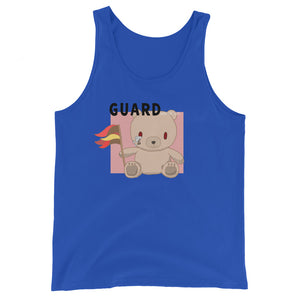 Teddy Flag Color Guard Unisex Tank Top-Marching Arts Merchandise-True Royal-XS-Marching Arts Merchandise