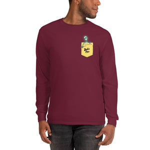 Beat Me Alien Percussion Men's Long Sleeve Shirt-Marching Arts Merchandise-Marching Arts Merchandise
