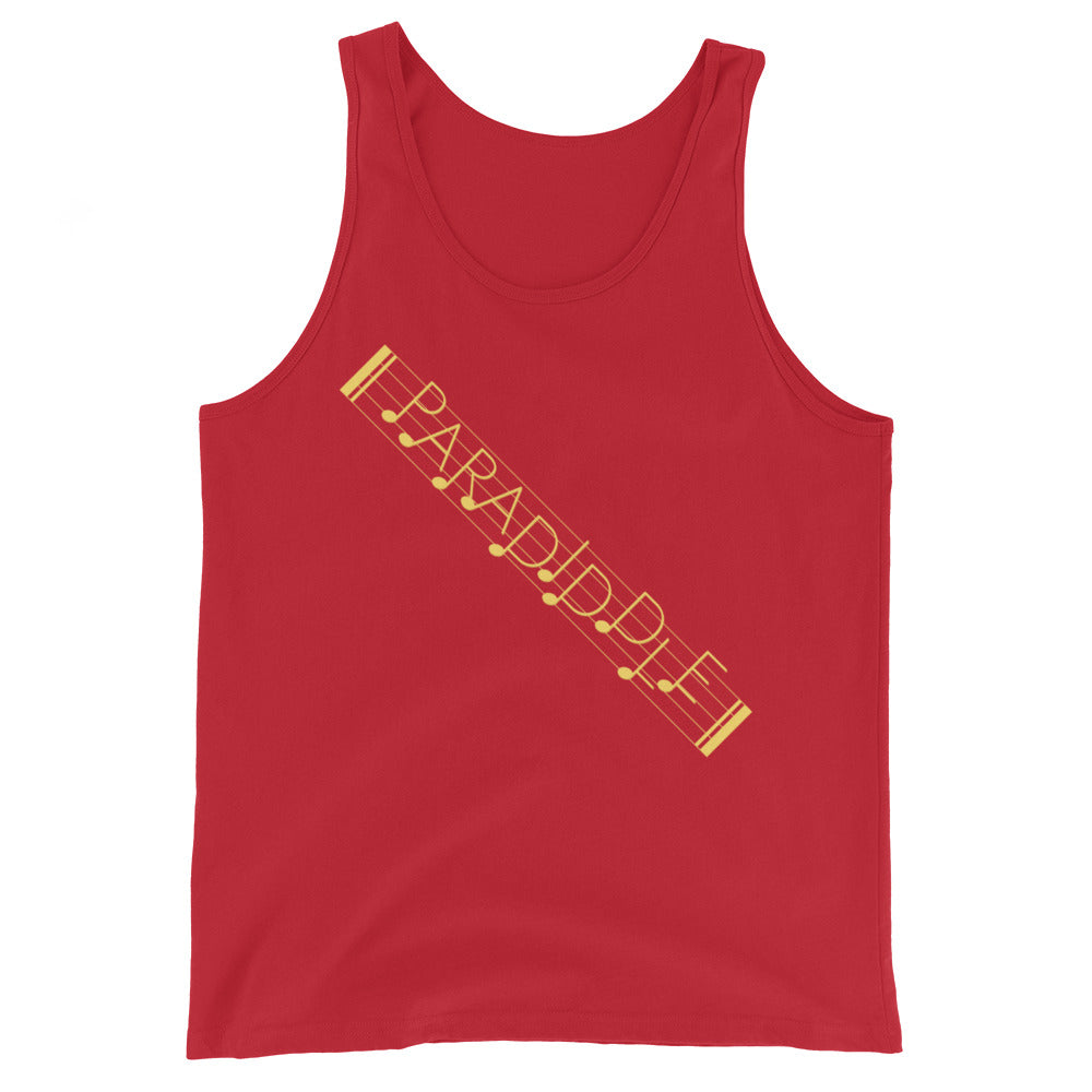 Paradiddle Strap Percussion Unisex Tank Top-Marching Arts Merchandise-Red-XS-Marching Arts Merchandise