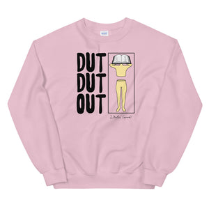 Love Dut Dut Out Color Guard Unisex Sweatshirt-Marching Arts Merchandise-Light Pink-S-Marching Arts Merchandise