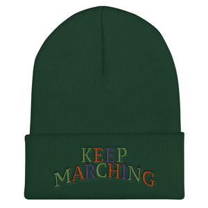 Keep Marching Cuffed Beanie-Marching Arts Merchandise-Spruce-Marching Arts Merchandise