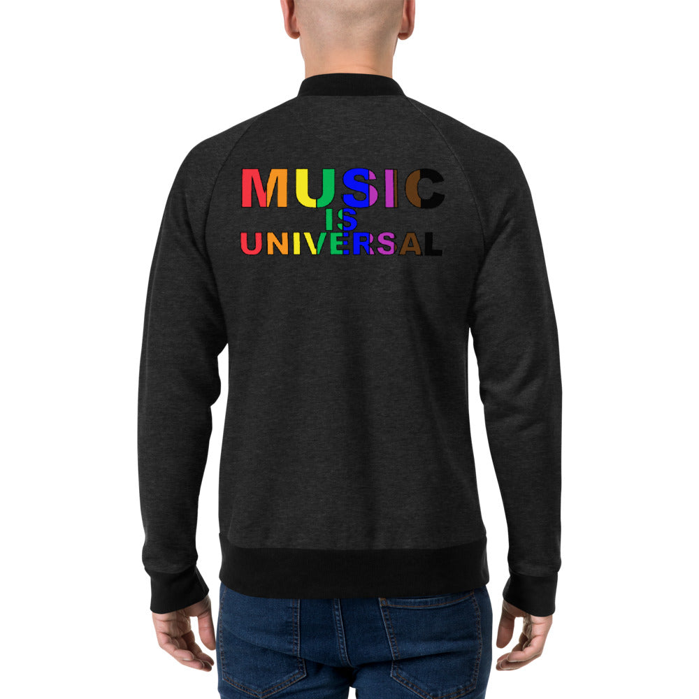 Music Is Universal Bomber Jacket-Marching Arts Merchandise-Marching Arts Merchandise