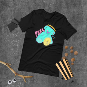 Neon Teddy Cymbal Percussion Short-Sleeve Unisex T-Shirt-Marching Arts Merchandise-Marching Arts Merchandise