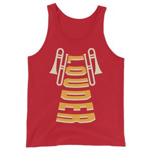 Louder Trombone Marching Band Unisex Tank Top-Marching Arts Merchandise-Red-XS-Marching Arts Merchandise