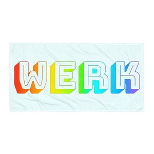 Rainbow Werk Towel-Marching Arts Merchandise-Marching Arts Merchandise