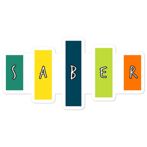 Retro Saber Bubble-Free Stickers-Marching Arts Merchandise-5.5x5.5-Marching Arts Merchandise