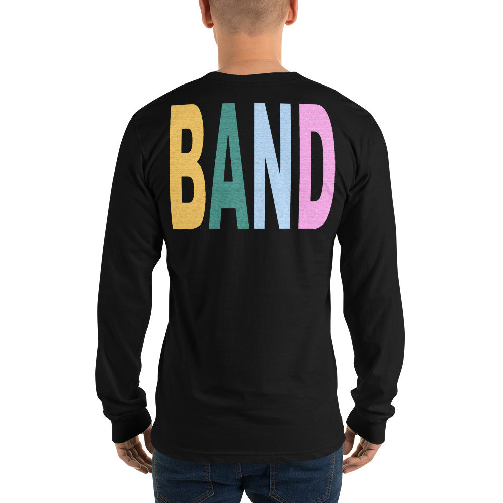 Texture Band Unisex Long Sleeve Shirt-Marching Arts Merchandise-Marching Arts Merchandise