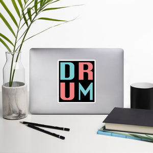 DRUM Bubble-Free Stickers-Marching Arts Merchandise-Marching Arts Merchandise