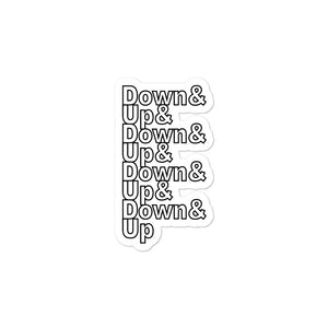 Down & Up Bubble-Free Stickers-Marching Arts Merchandise-3x3-Marching Arts Merchandise
