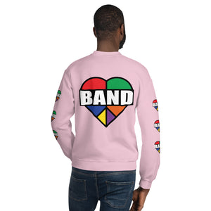 Stained Band Heart Unisex Sweatshirt-Marching Arts Merchandise-Marching Arts Merchandise