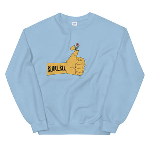 RLRR Flower Percussion Unisex Sweatshirt-Marching Arts Merchandise-Light Blue-S-Marching Arts Merchandise