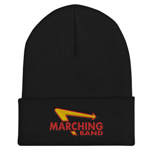Marching Burgers Cuffed Beanie-Marching Arts Merchandise-Black-Marching Arts Merchandise