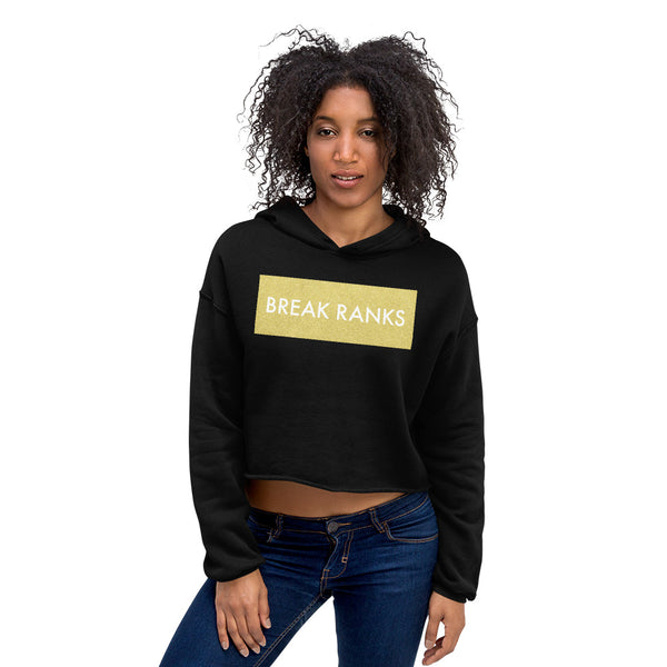 Break Ranks Crop Hoodie - Marching Arts Merchandise -  - Marching Arts Merchandise - Marching Arts Merchandise - band percussion color guard clothing accessories home goods