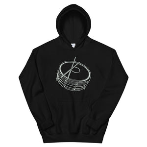 Drawing Snare Unisex Hoodie-Marching Arts Merchandise-Black-S-Marching Arts Merchandise