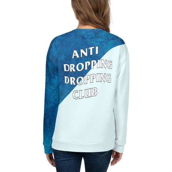 Anti Dropping Dropping Club Watercolor Unisex Sweatshirt - Marching Arts Merchandise -  - Marching Arts Merchandise - Marching Arts Merchandise - band percussion color guard clothing accessories home goods