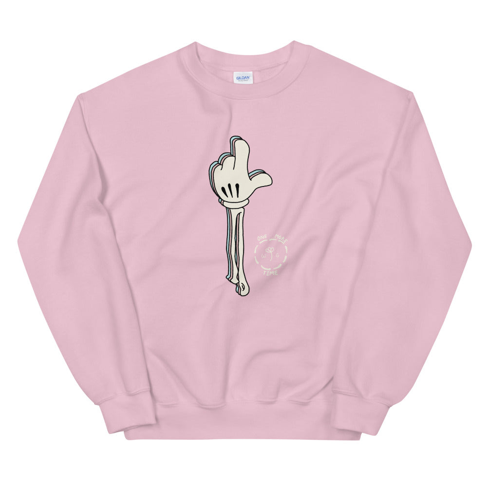 One More Time Skeleton Color Guard Unisex Sweatshirt-Marching Arts Merchandise-Light Pink-S-Marching Arts Merchandise