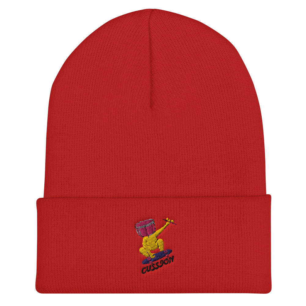 Snare Head Cuffed Beanie-Marching Arts Merchandise-Red-Marching Arts Merchandise