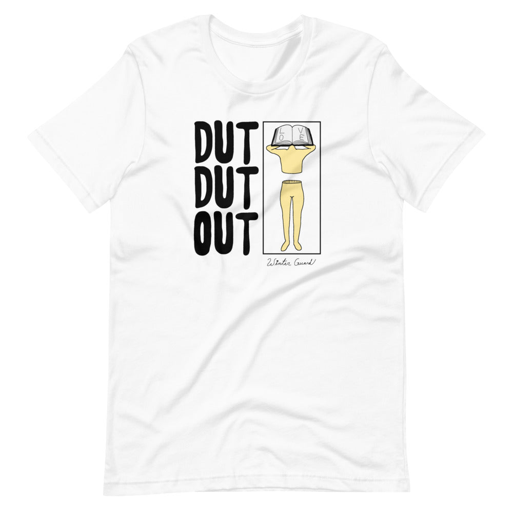 Love Dut Dut Out Color Guard Short-Sleeve Unisex T-Shirt-Marching Arts Merchandise-White-XS-Marching Arts Merchandise