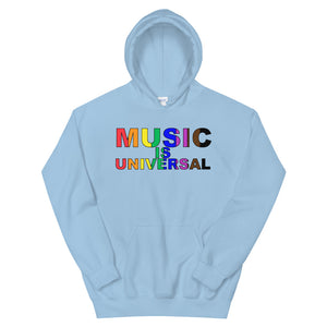 Music Is Universal Unisex Hoodie-Marching Arts Merchandise-Light Blue-S-Marching Arts Merchandise