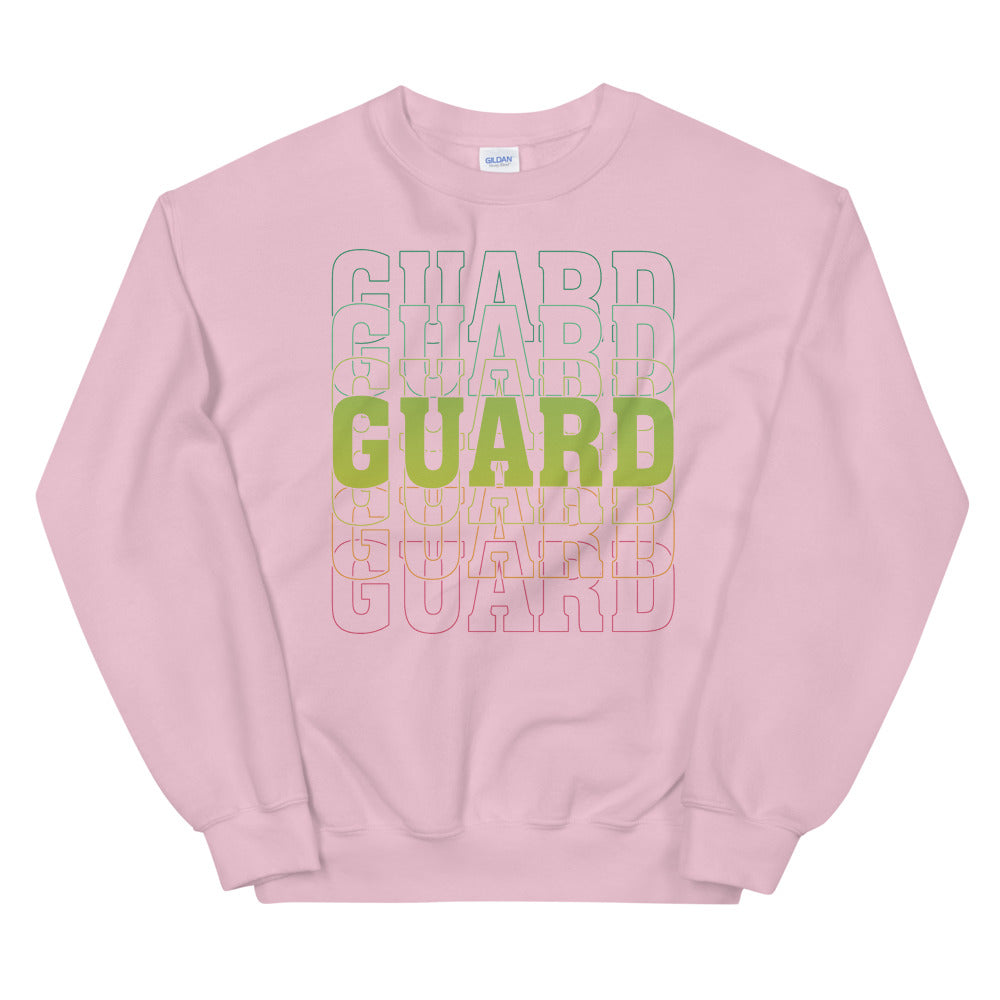 Color Guard On Color Guard Unisex Sweatshirt-Marching Arts Merchandise-Light Pink-S-Marching Arts Merchandise
