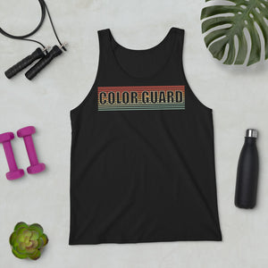 Retro Color Guard Unisex Tank Top-Marching Arts Merchandise-Marching Arts Merchandise