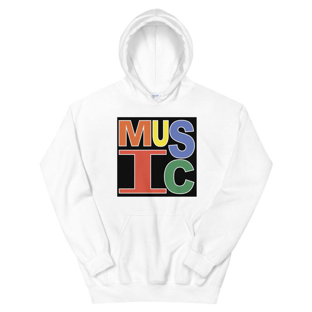 Retro Music Unisex Hoodie-Marching Arts Merchandise-White-S-Marching Arts Merchandise