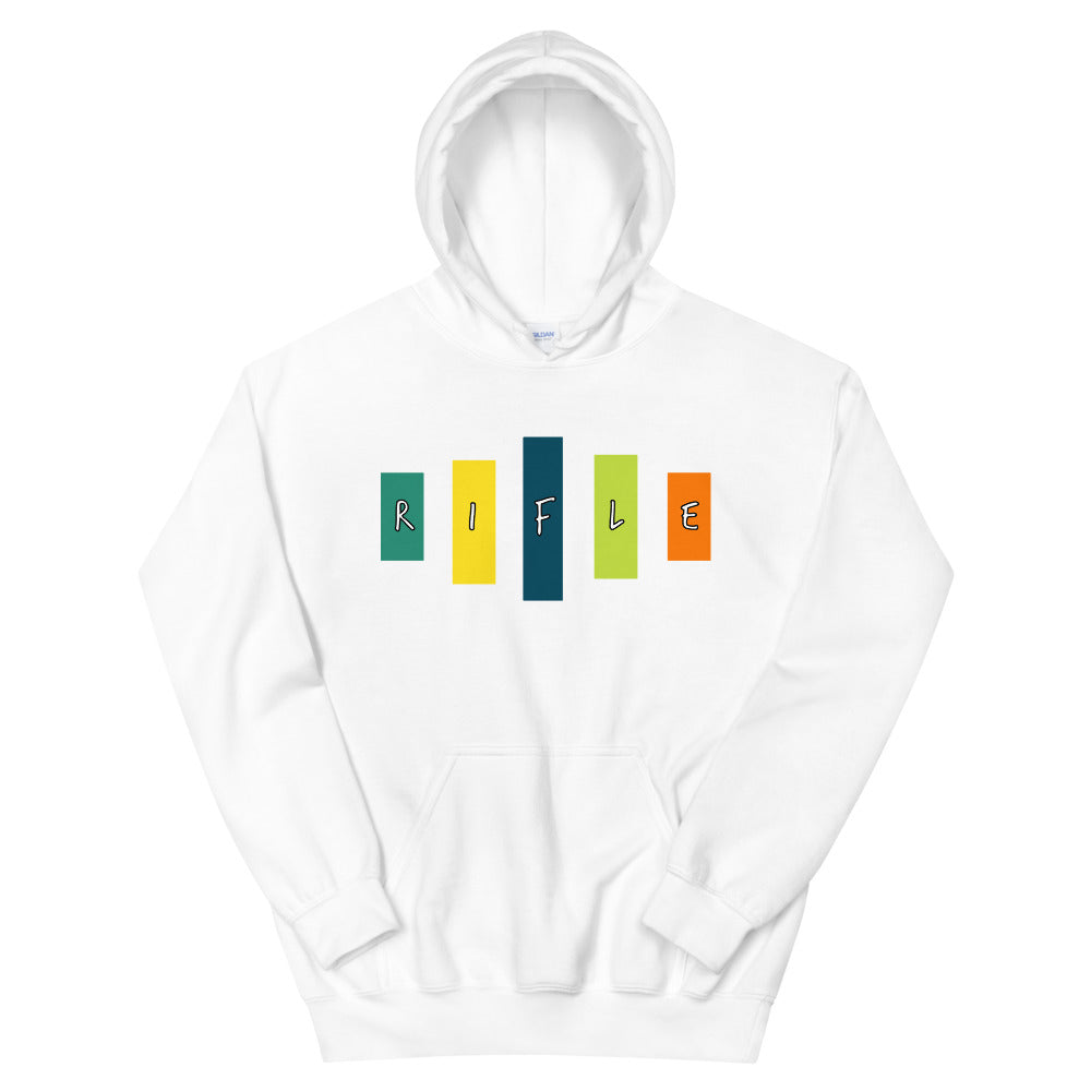 Retro Rifle Unisex Hoodie-Marching Arts Merchandise-White-S-Marching Arts Merchandise