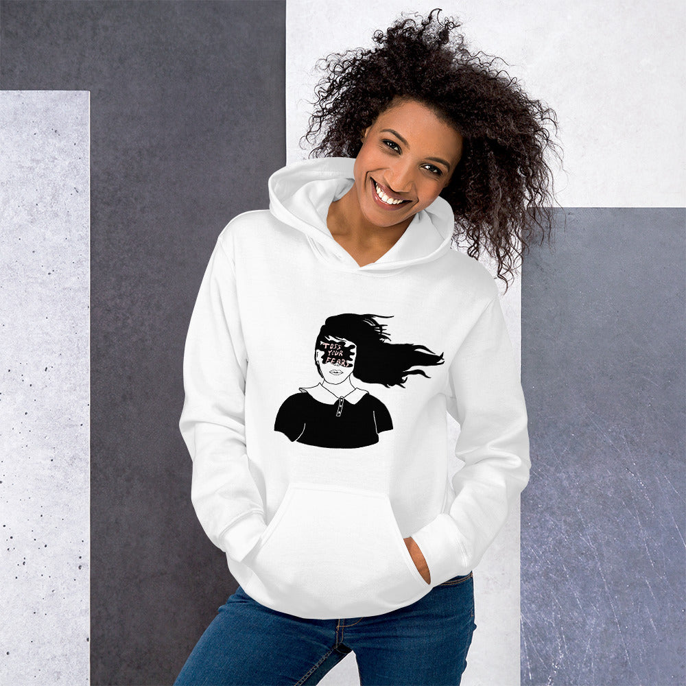 Toss Your Fears Girl Color Guard Unisex Hoodie-Marching Arts Merchandise-Marching Arts Merchandise