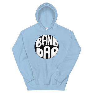 Retro Band Dad Unisex Hoodie-Marching Arts Merchandise-Light Blue-S-Marching Arts Merchandise