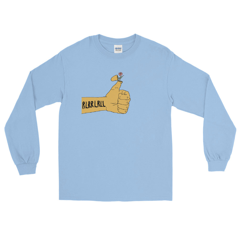 RLRR Flower Percussion Long Sleeve Shirt-Marching Arts Merchandise-Light Blue-S-Marching Arts Merchandise