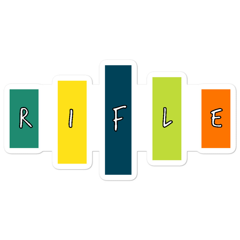 Retro Rifle Bubble-Free Stickers-Marching Arts Merchandise-5.5x5.5-Marching Arts Merchandise