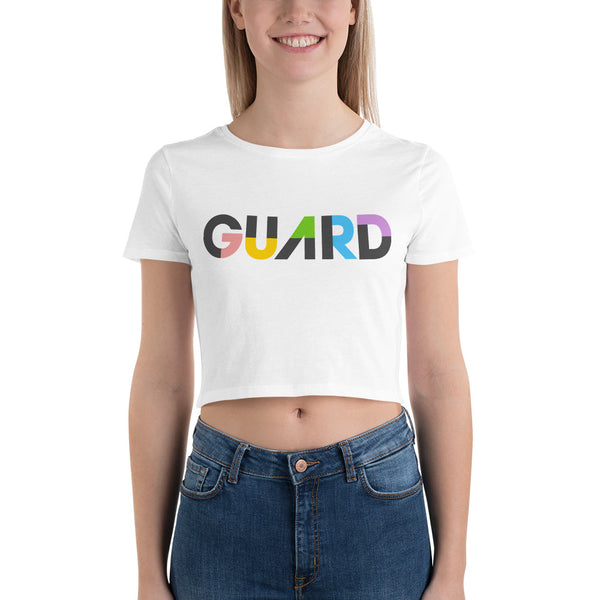 Color Block Guard Women's Crop Tee - Marching Arts Merchandise -  - Marching Arts Merchandise - Marching Arts Merchandise - band percussion color guard clothing accessories home goods