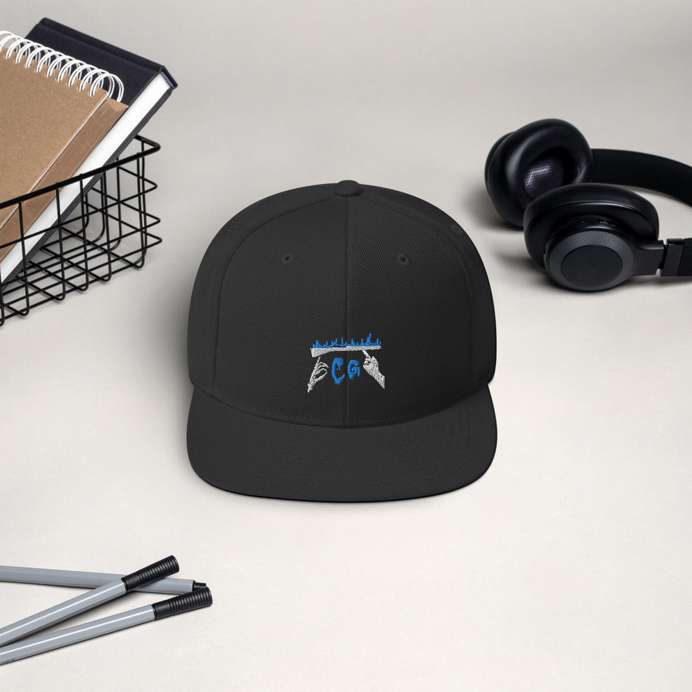 Rifle On Fire Snapback Hat-Marching Arts Merchandise-Marching Arts Merchandise