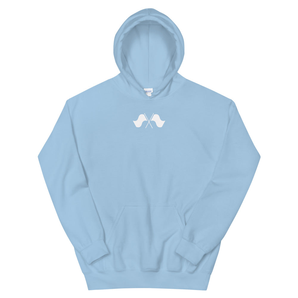 Minimalist Color Guard Unisex Hoodie-Marching Arts Merchandise-Light Blue-S-Marching Arts Merchandise