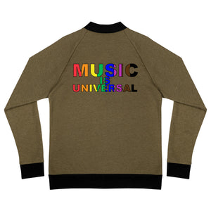 Music Is Universal Bomber Jacket-Marching Arts Merchandise-Heather Military Green-S-Marching Arts Merchandise