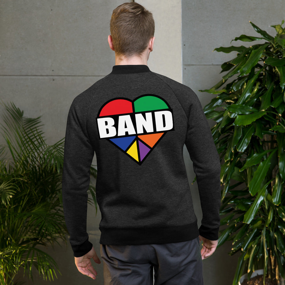 Stained Band Heart Bomber Jacket-Marching Arts Merchandise-Marching Arts Merchandise