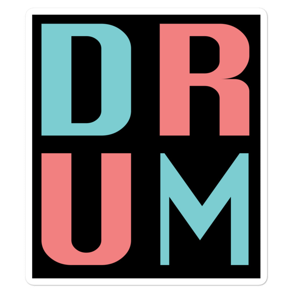 DRUM Bubble-Free Stickers-Marching Arts Merchandise-5.5x5.5-Marching Arts Merchandise