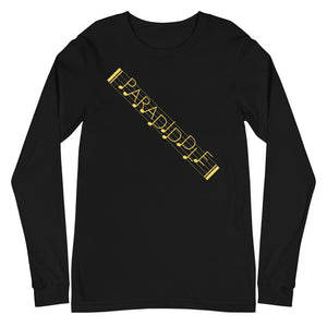 Paradiddle Strap Percussion Unisex Long Sleeve Tee-Marching Arts Merchandise-Black-XS-Marching Arts Merchandise