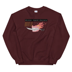 Winter Guard Saber Color Guard Unisex Sweatshirt-Marching Arts Merchandise-Maroon-S-Marching Arts Merchandise