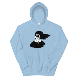 Toss Your Fears Girl Color Guard Unisex Hoodie-Marching Arts Merchandise-Light Blue-S-Marching Arts Merchandise